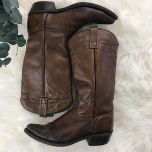 Acme Leather Cowboy Boots
